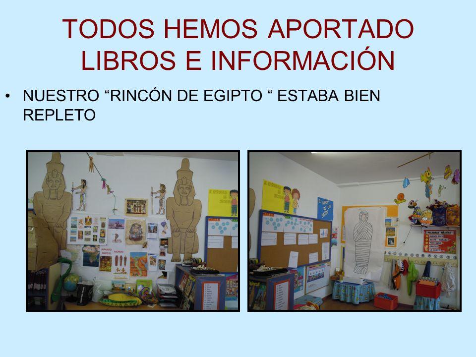 TODOS HEMOS APORTADO LIBROS E INFORMACIÓN