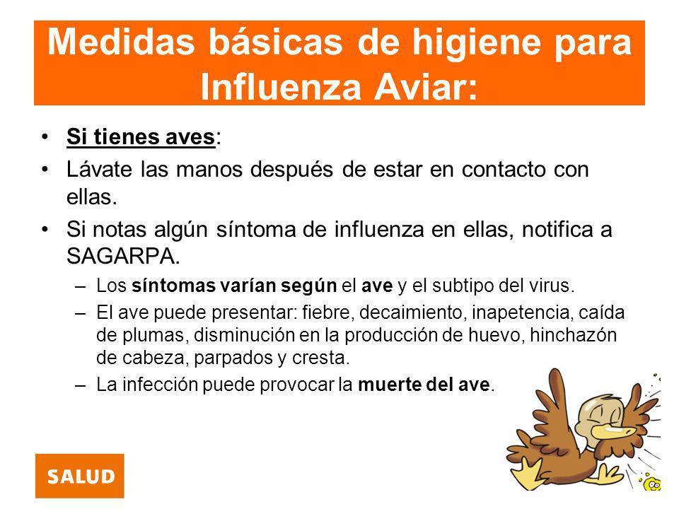 Medidas básicas de higiene para Influenza Aviar: