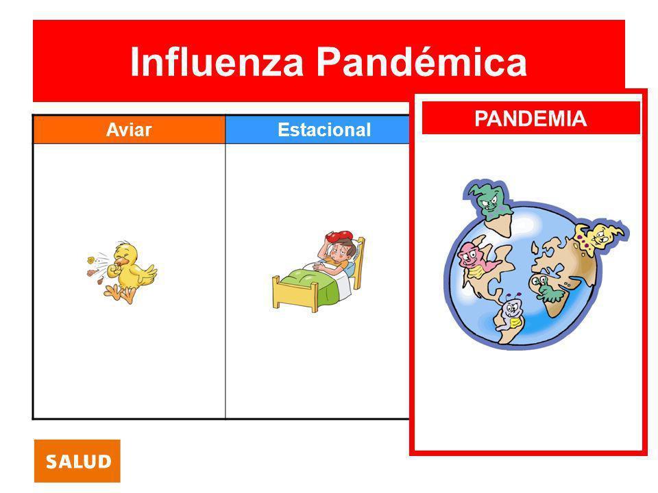 Influenza Pandémica PANDEMIA Aviar Estacional Pandémica