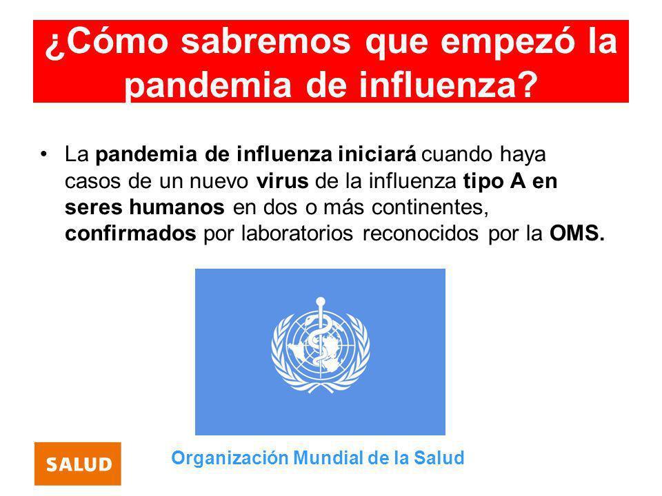 ¿Cómo sabremos que empezó la pandemia de influenza
