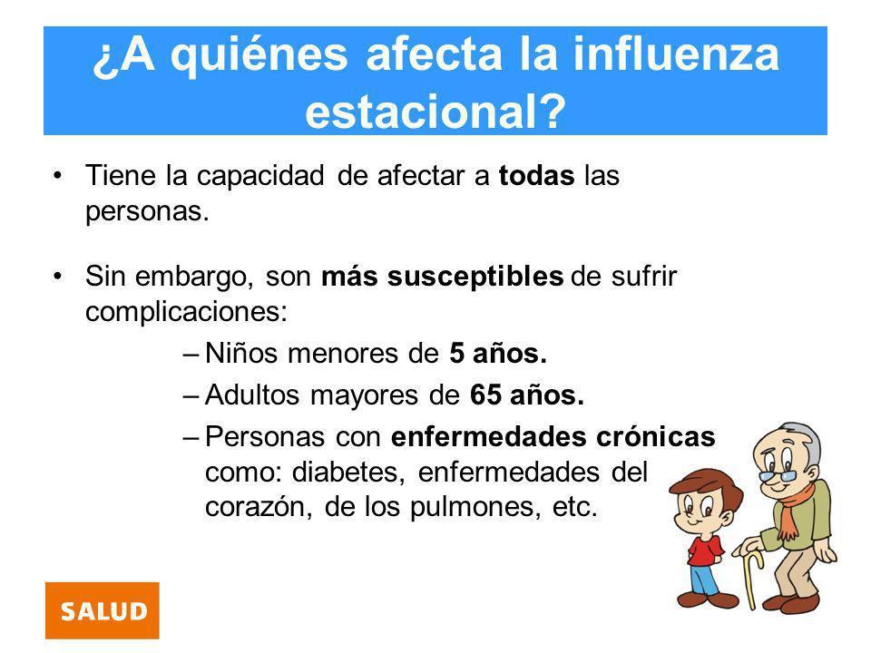 ¿A quiénes afecta la influenza estacional