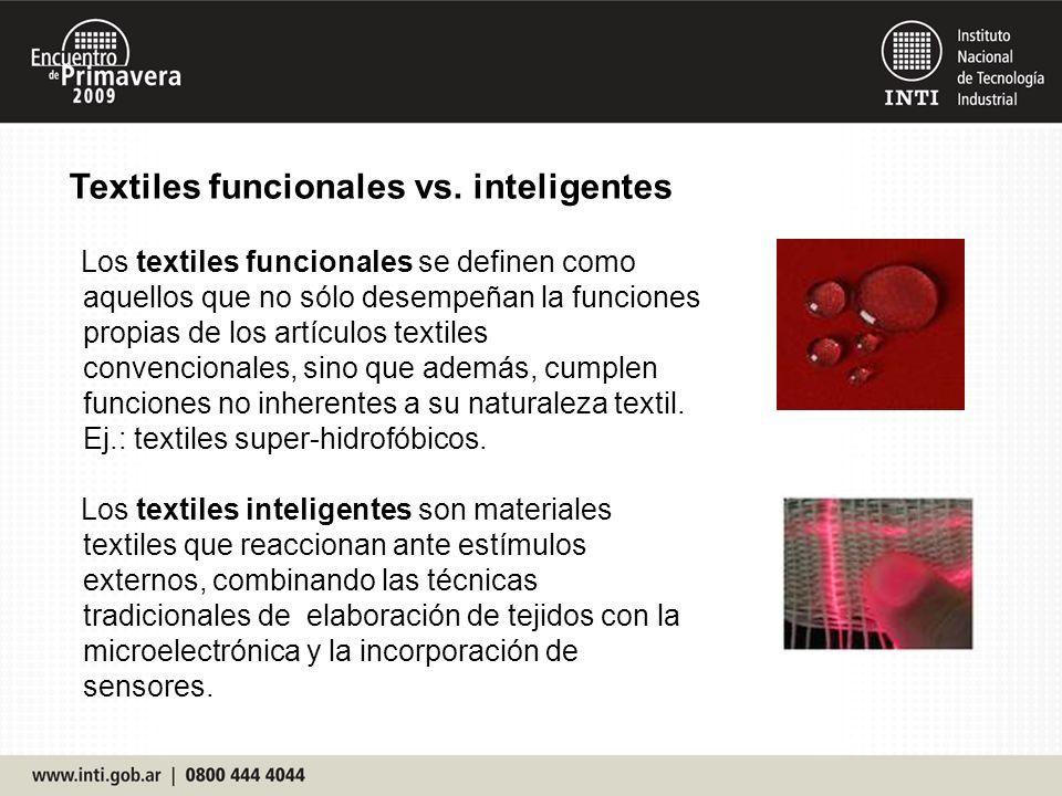 Textiles funcionales vs. inteligentes