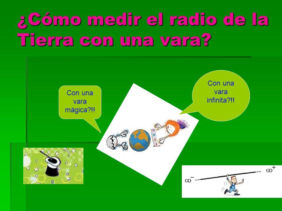 ¿Cómo medir el radio de la Tierra con una vara
