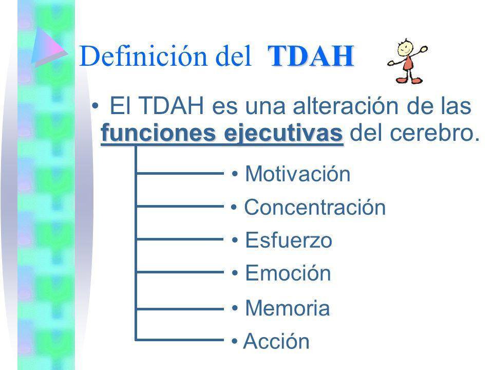 El TDAH es una alteración de las funciones ejecutivas del cerebro.