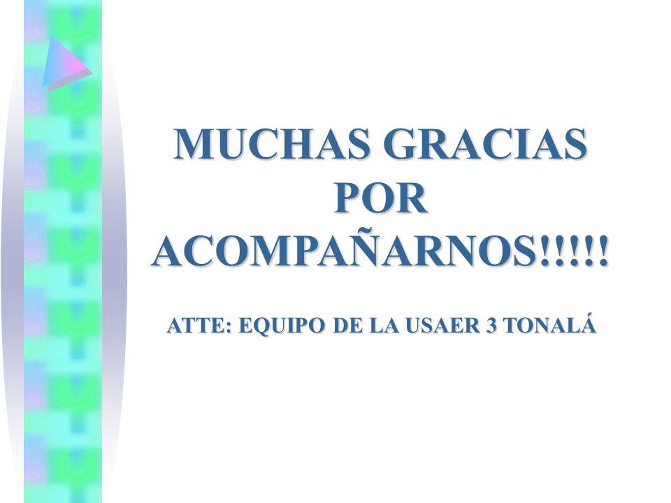 MUCHAS GRACIAS POR ACOMPAÑARNOS!!!!!