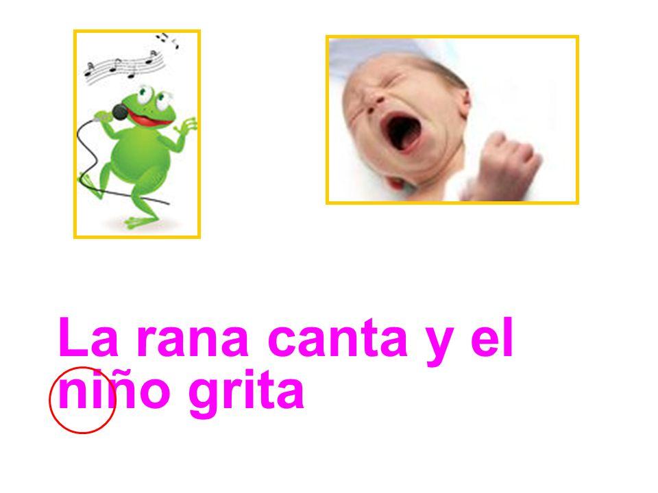 La rana canta y el niño grita