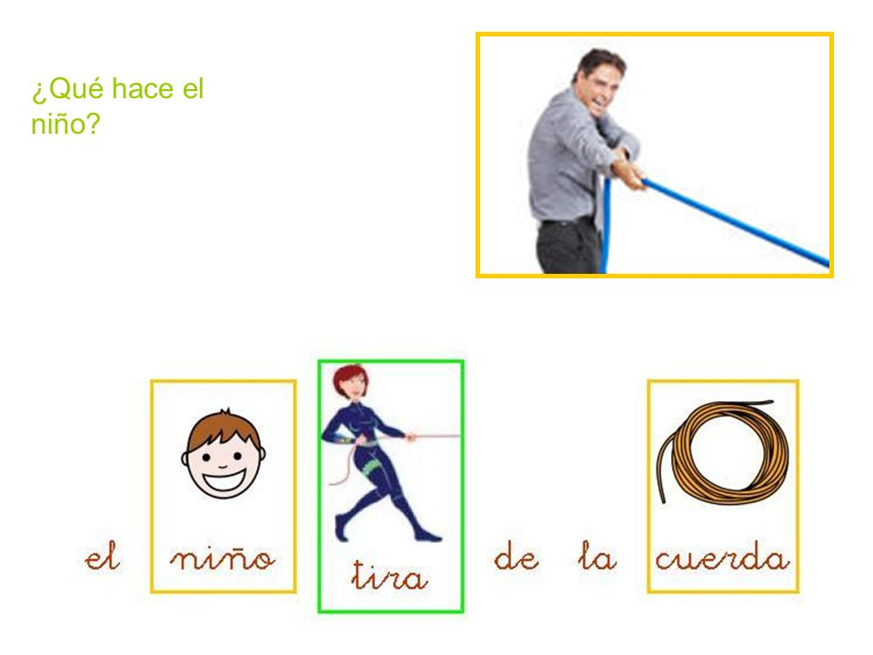 ¿Qué hace el niño