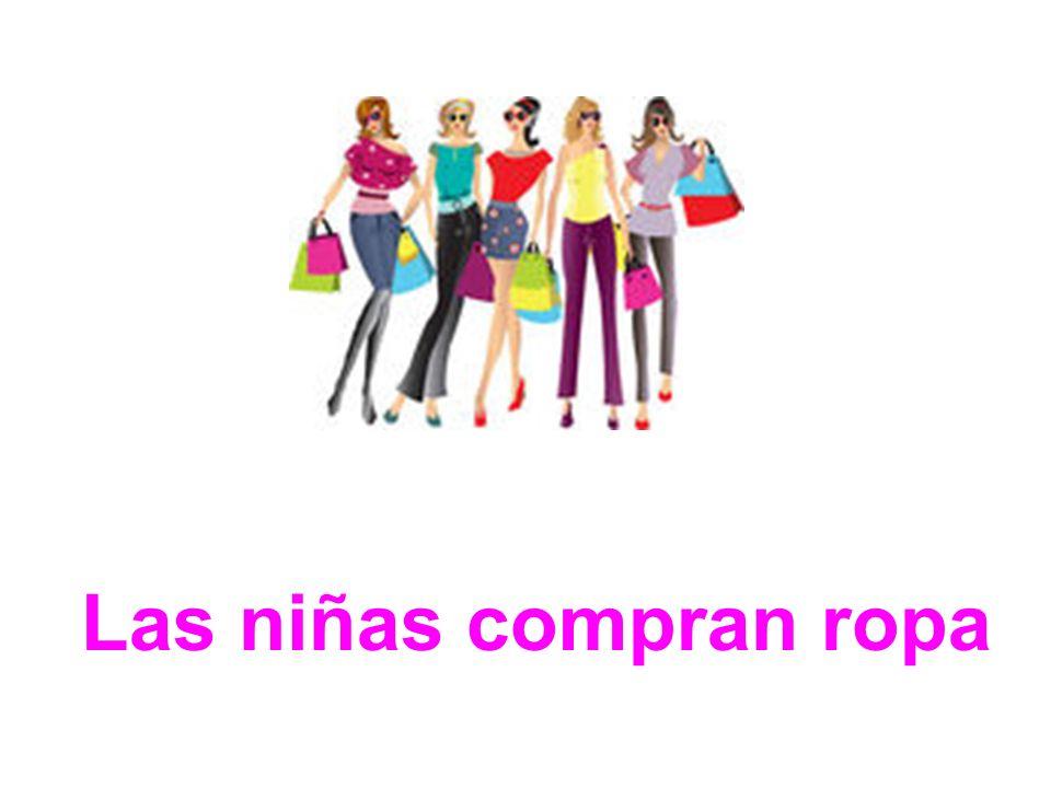 Las niñas compran ropa