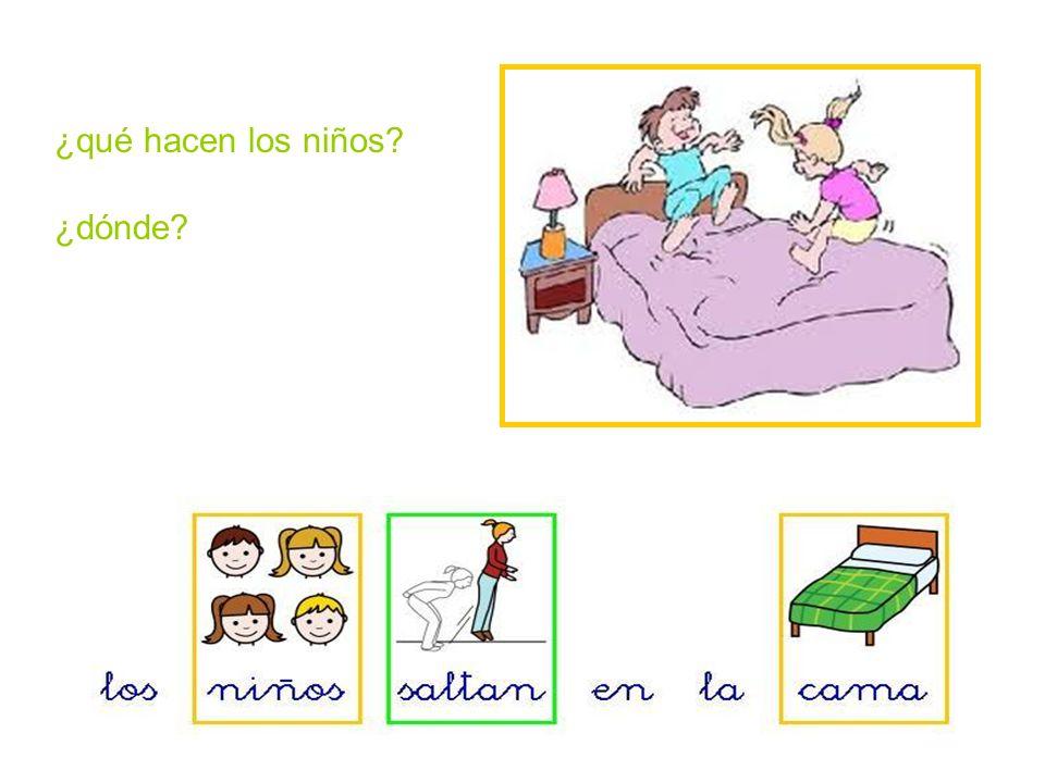 ¿qué hacen los niños ¿dónde