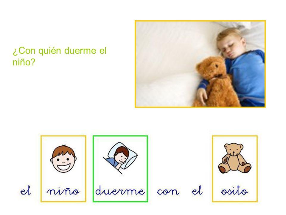 ¿Con quién duerme el niño