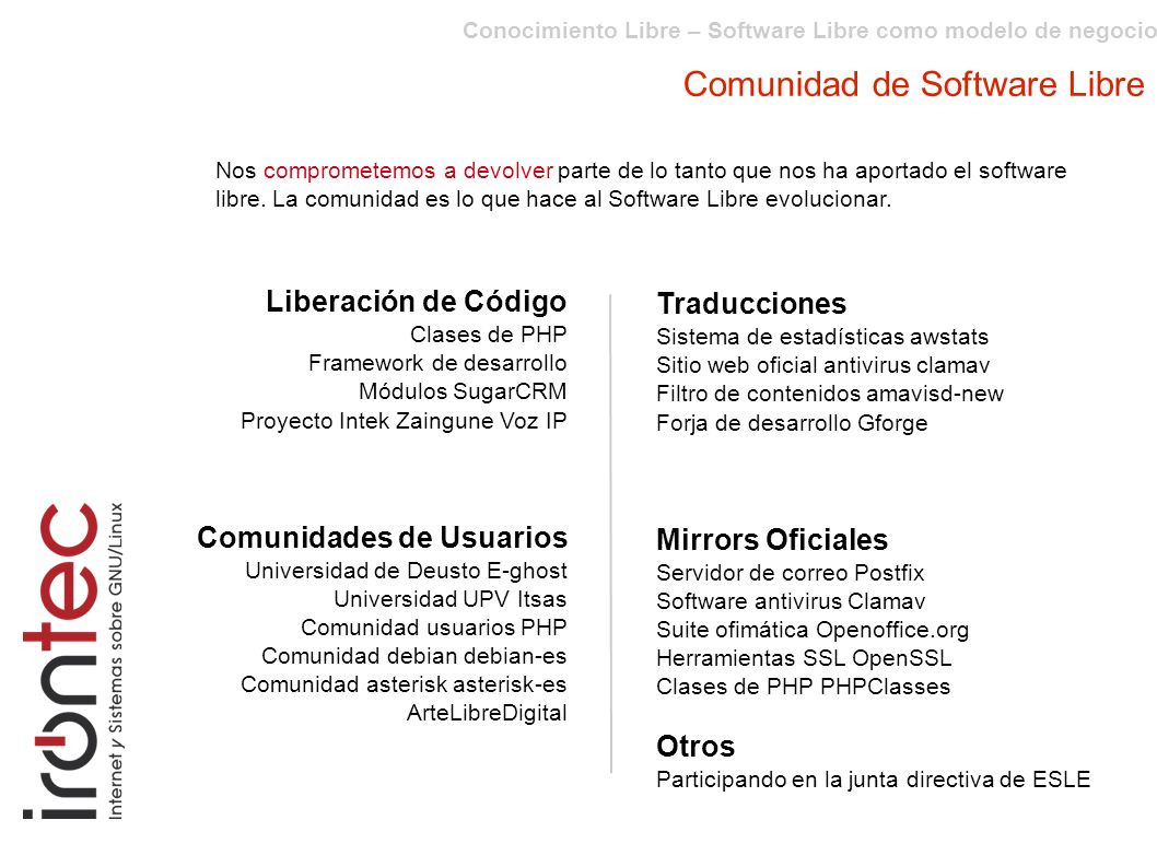 Comunidad de Software Libre