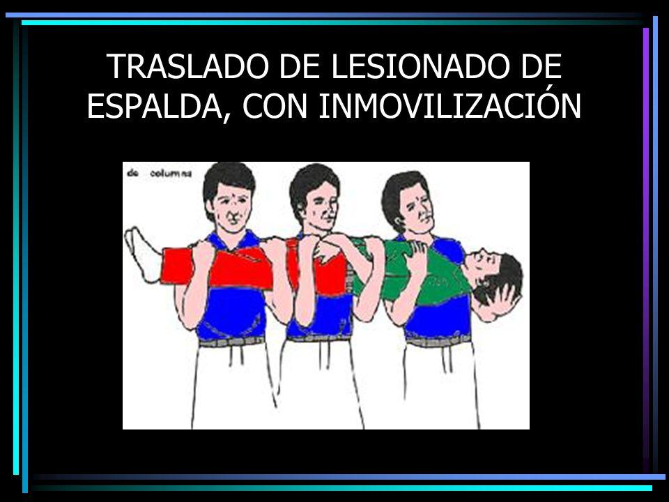 TRASLADO DE LESIONADO DE ESPALDA, CON INMOVILIZACIÓN
