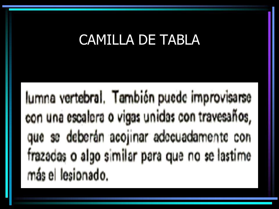 CAMILLA DE TABLA
