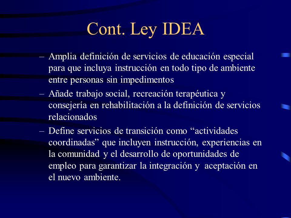 Cont. Ley IDEA