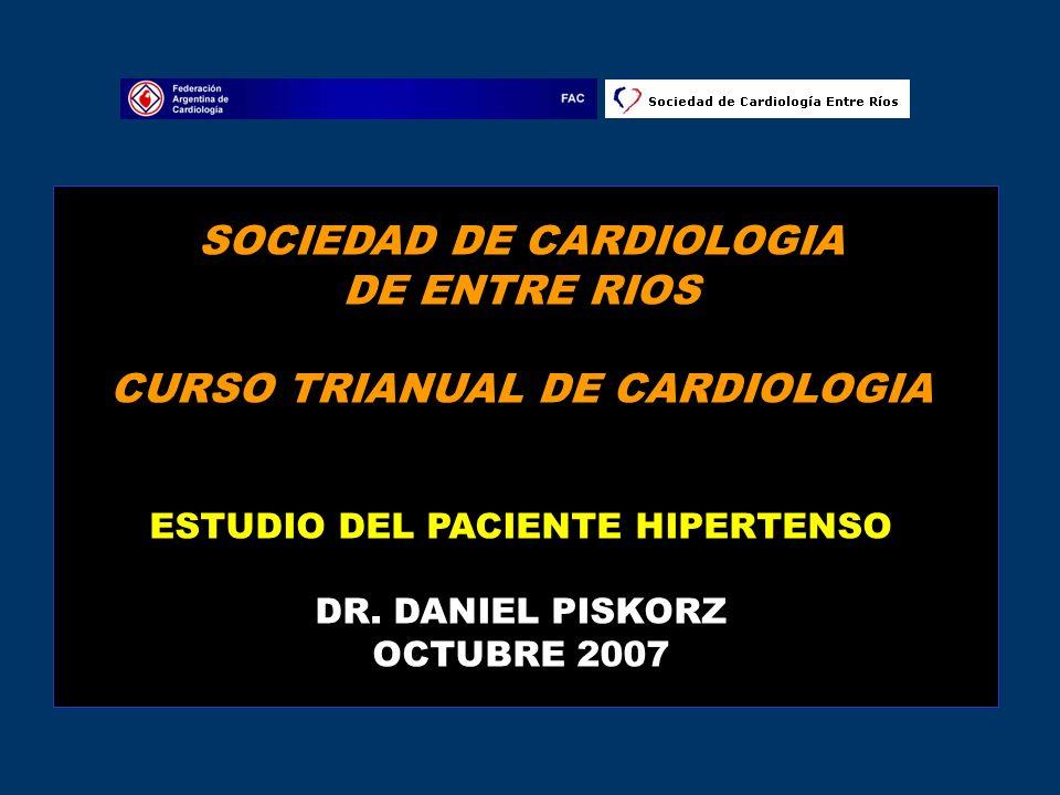 SOCIEDAD DE CARDIOLOGIA DE ENTRE RIOS CURSO TRIANUAL DE CARDIOLOGIA