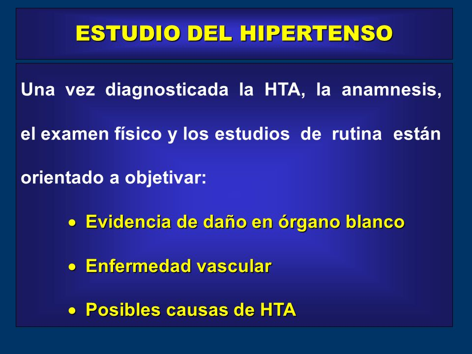 ESTUDIO DEL HIPERTENSO