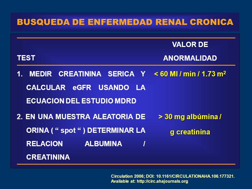 BUSQUEDA DE ENFERMEDAD RENAL CRONICA