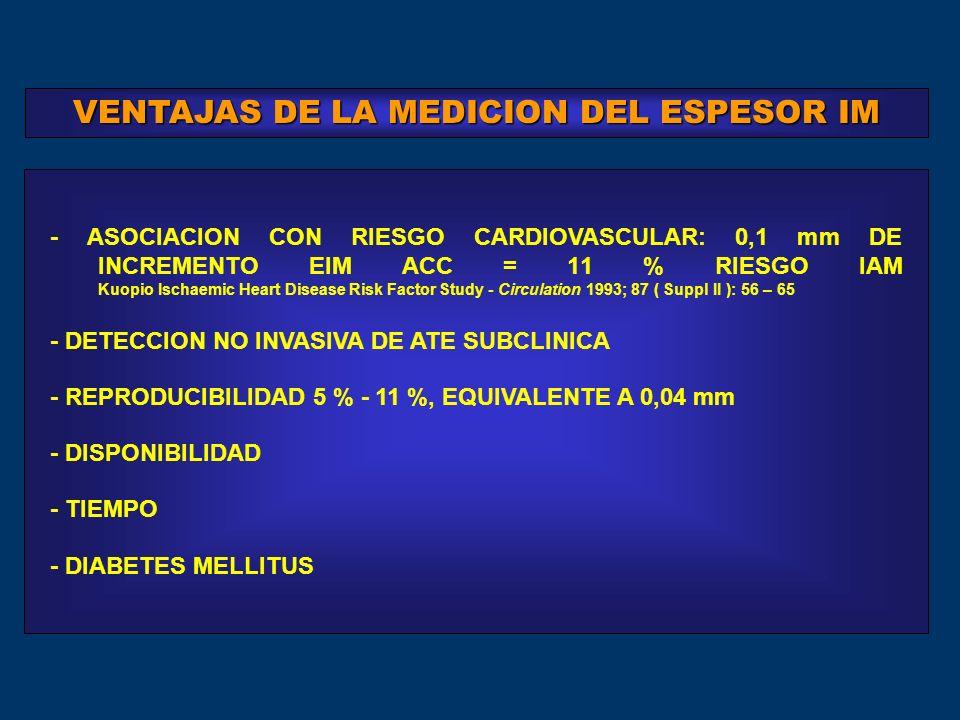 VENTAJAS DE LA MEDICION DEL ESPESOR IM