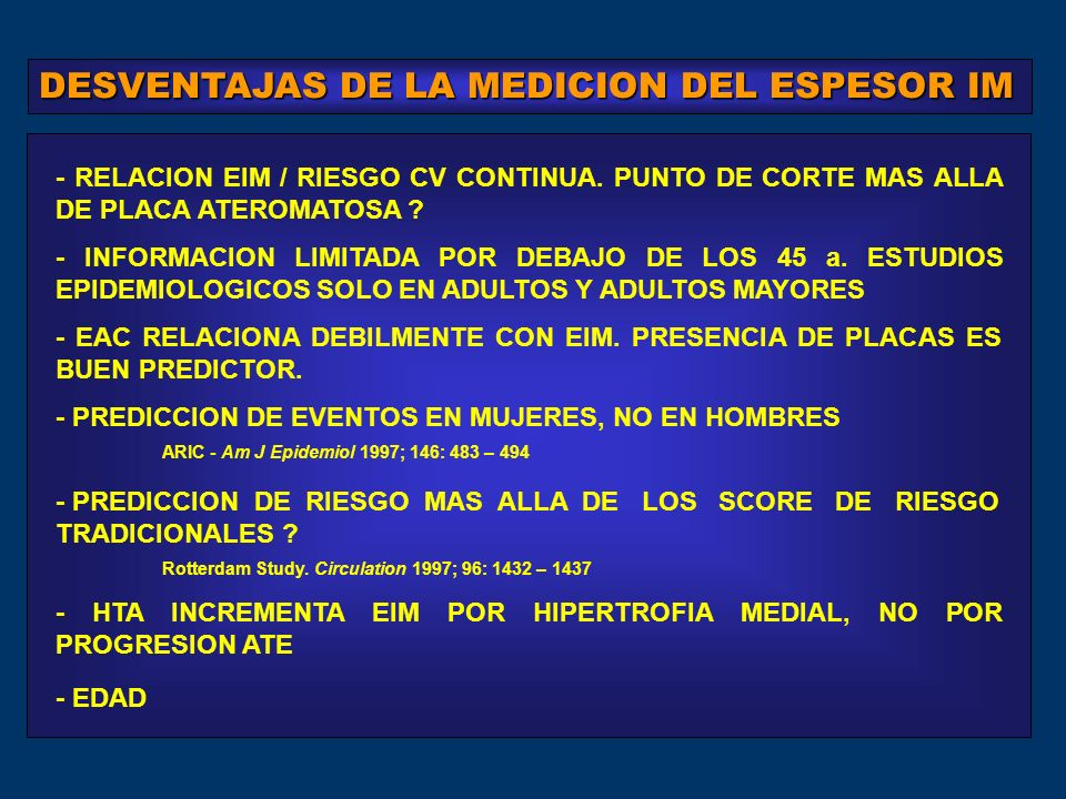 DESVENTAJAS DE LA MEDICION DEL ESPESOR IM