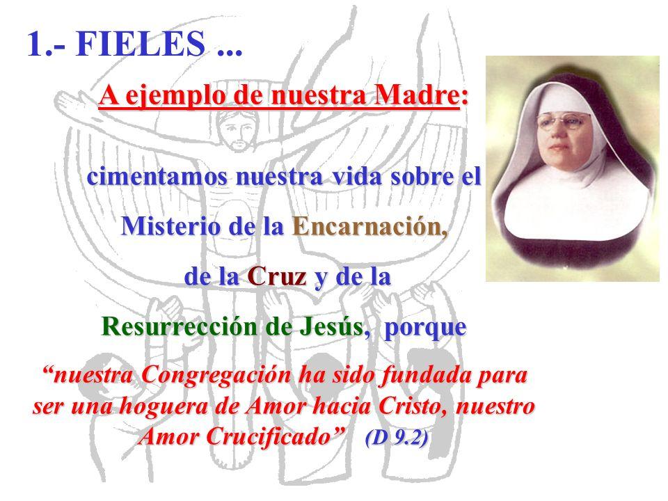 1.- FIELES ... A ejemplo de nuestra Madre: