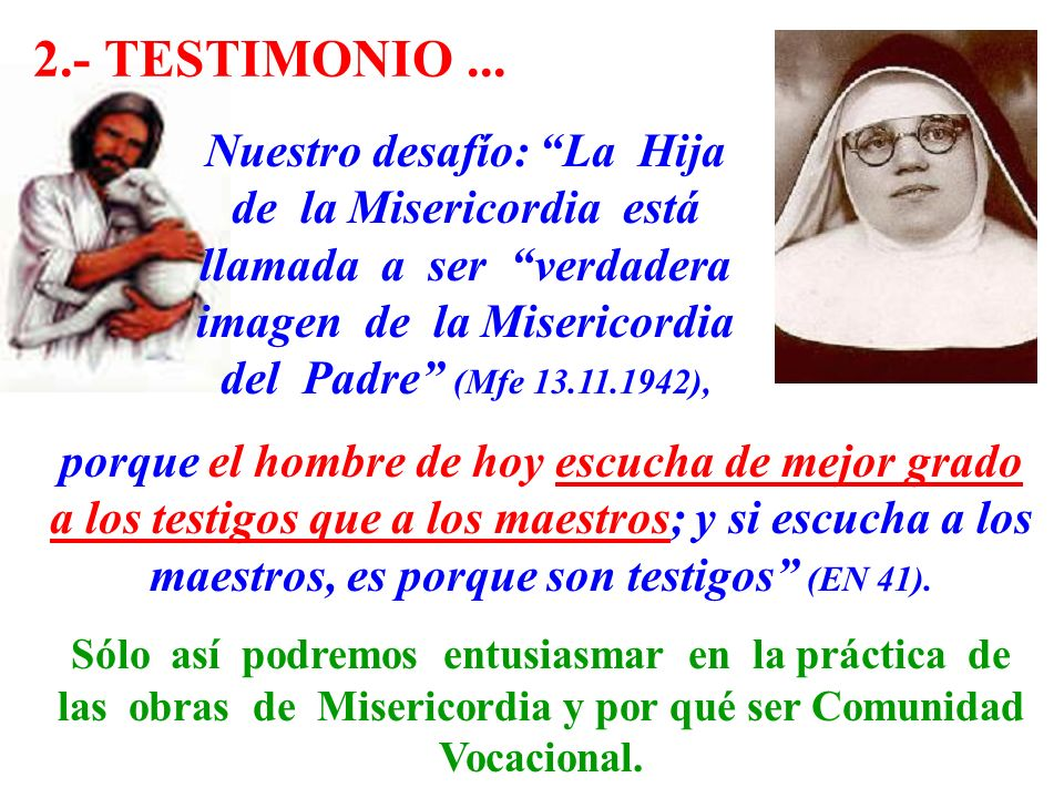 2.- TESTIMONIO ...