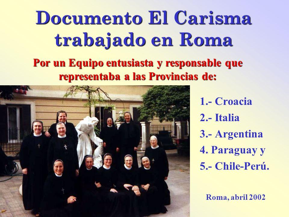Documento El Carisma trabajado en Roma