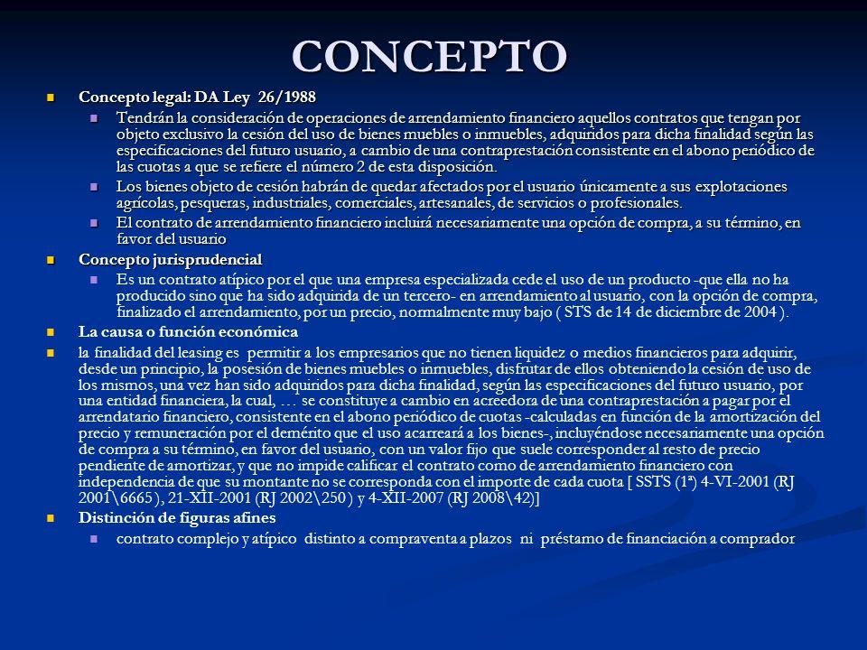 CONCEPTO Concepto legal: DA Ley 26/1988