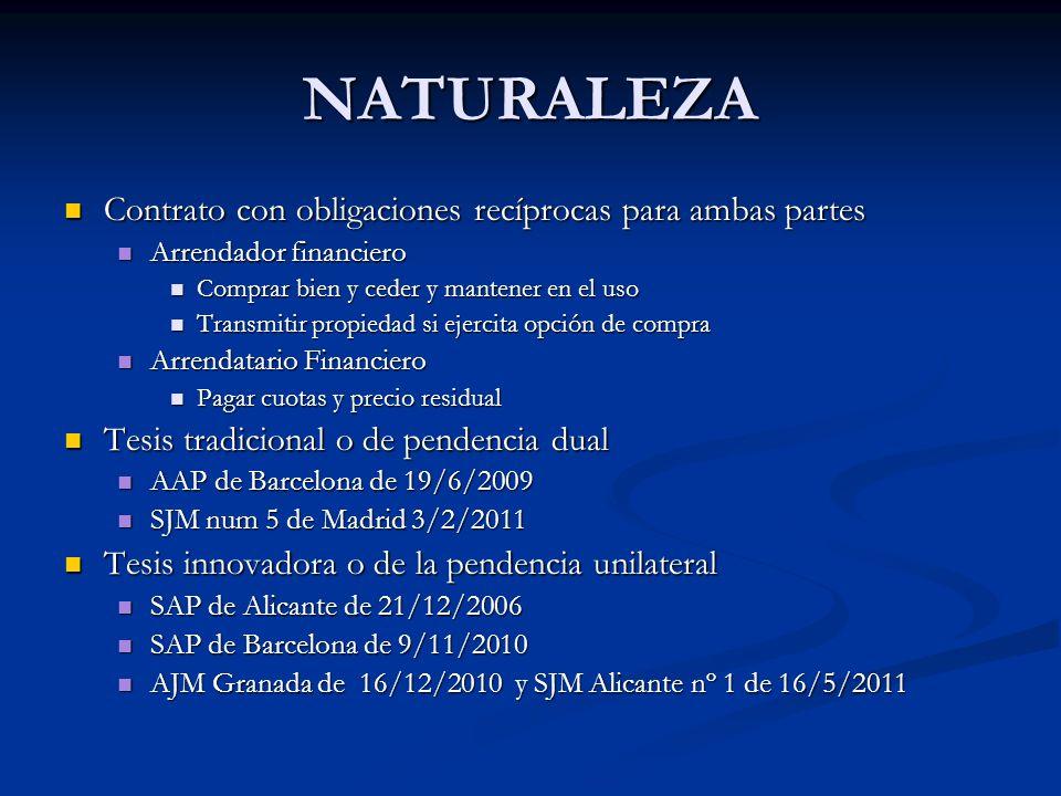 NATURALEZA Contrato con obligaciones recíprocas para ambas partes