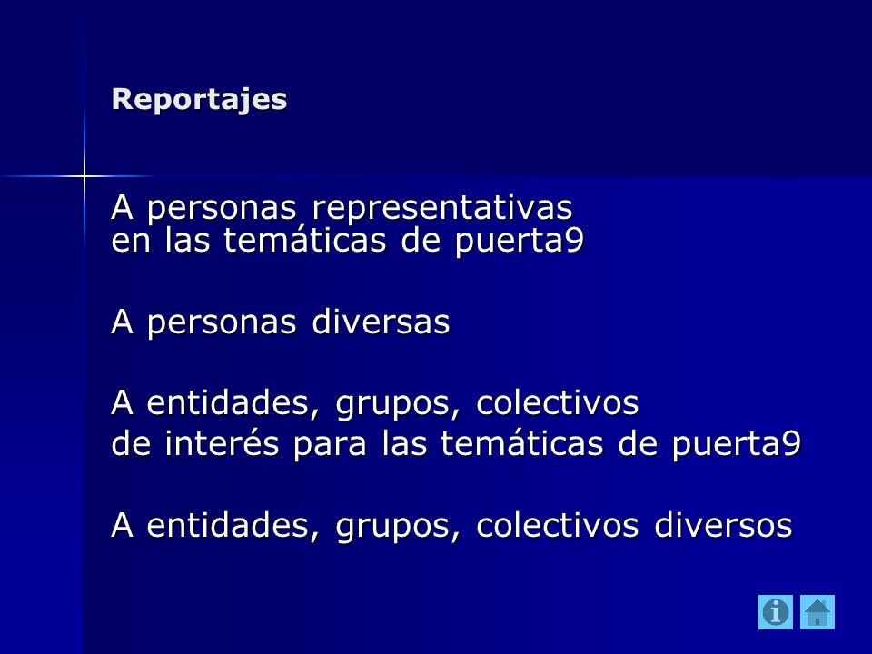 A personas representativas en las temáticas de puerta9
