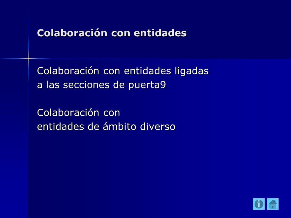 Colaboración con entidades