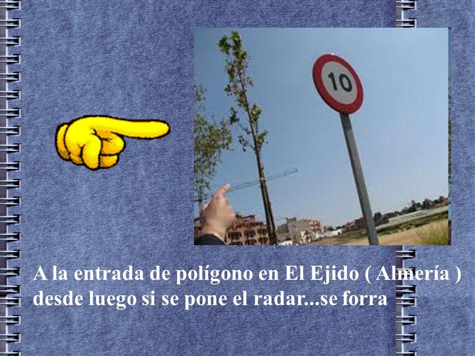 A la entrada de polígono en El Ejido ( Almería )
