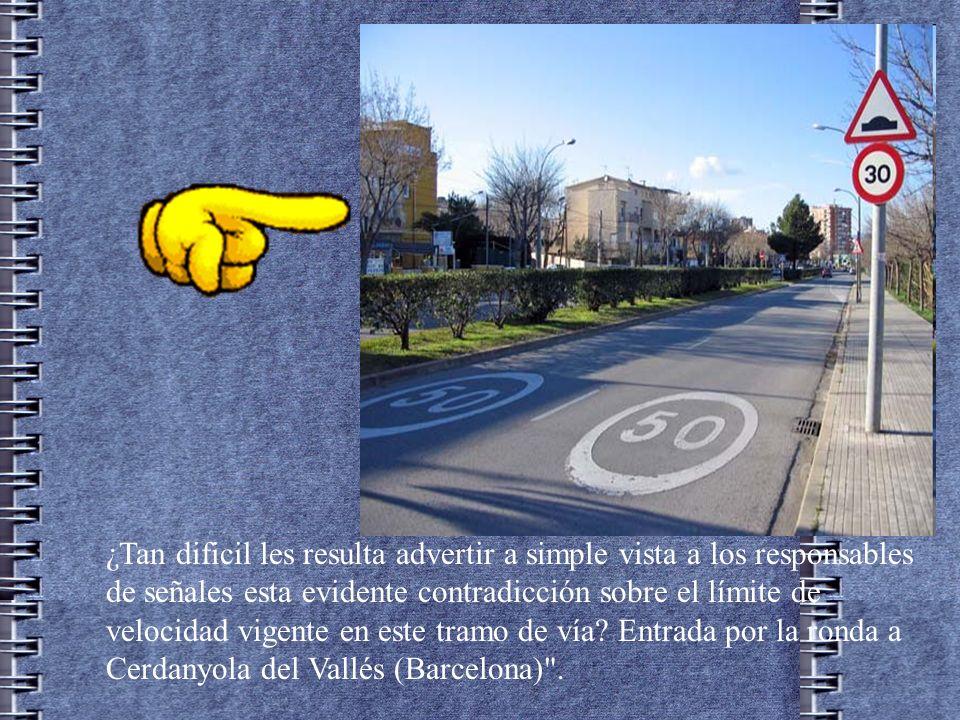 ¿Tan dificil les resulta advertir a simple vista a los responsables de señales esta evidente contradicción sobre el límite de velocidad vigente en este tramo de vía.