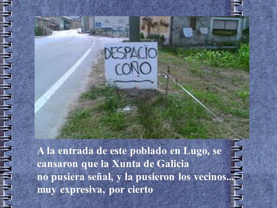 A la entrada de este poblado en Lugo, se cansaron que la Xunta de Galicia