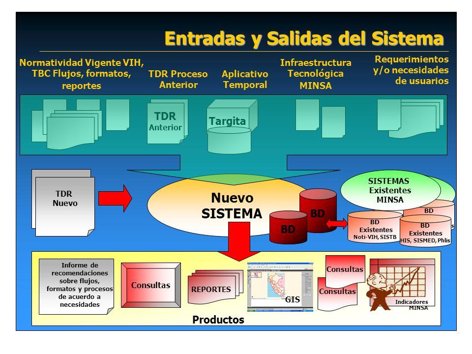 Entradas y Salidas del Sistema