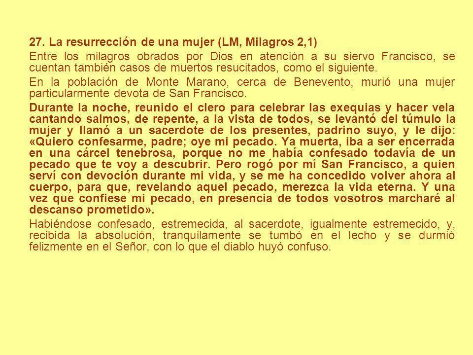 27. La resurrección de una mujer (LM, Milagros 2,1)