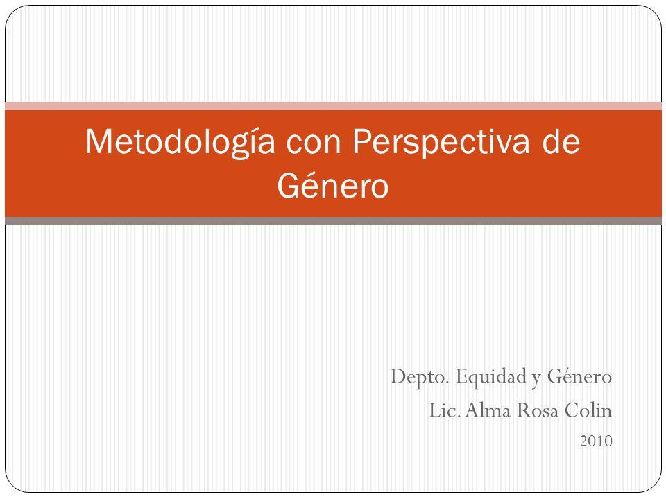 Metodología con Perspectiva de Género