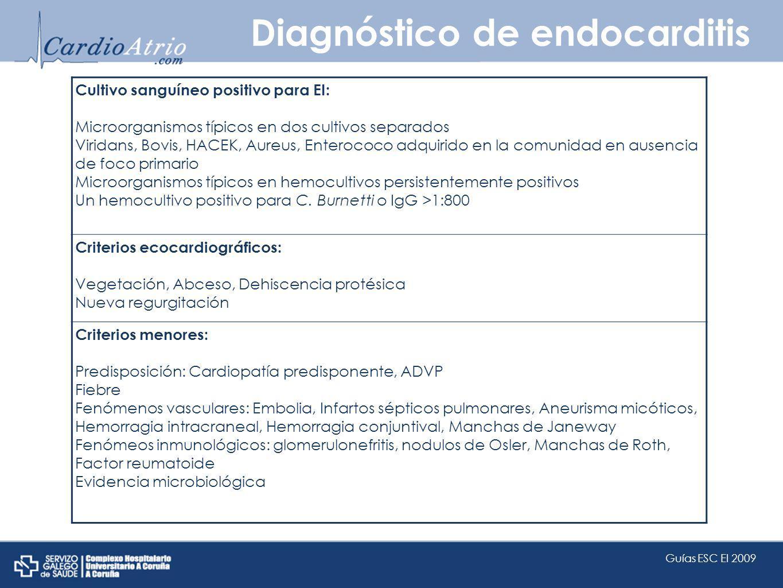 Diagnóstico de endocarditis