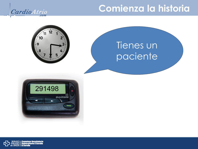 Comienza la historia Tienes un paciente 291498