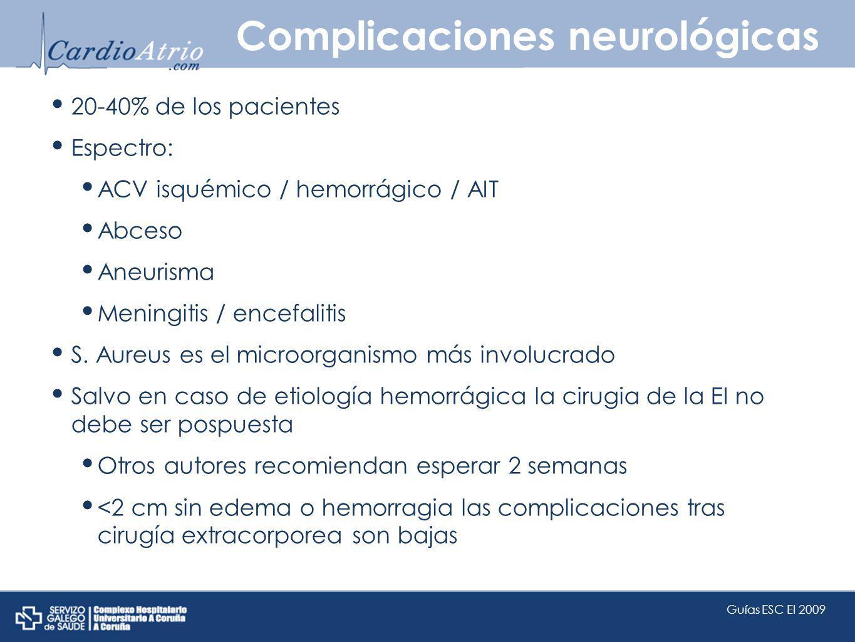 Complicaciones neurológicas