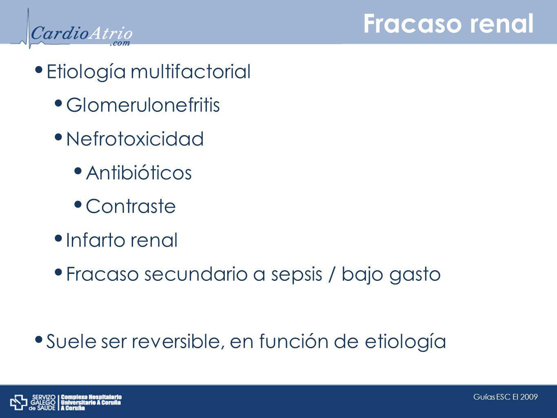 Fracaso renal Etiología multifactorial Glomerulonefritis