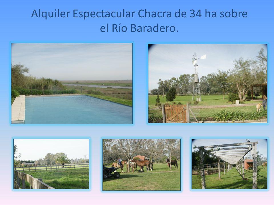 Alquiler Espectacular Chacra de 34 ha sobre el Río Baradero.