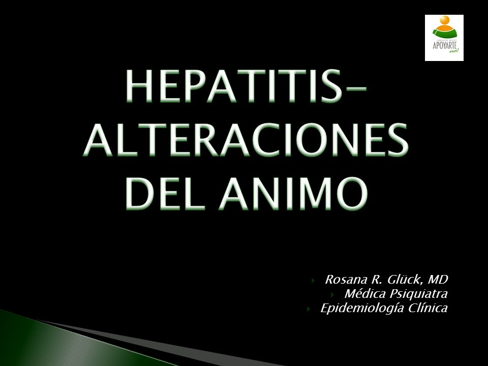 HEPATITIS-ALTERACIONES