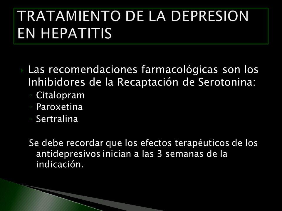 TRATAMIENTO DE LA DEPRESION EN HEPATITIS