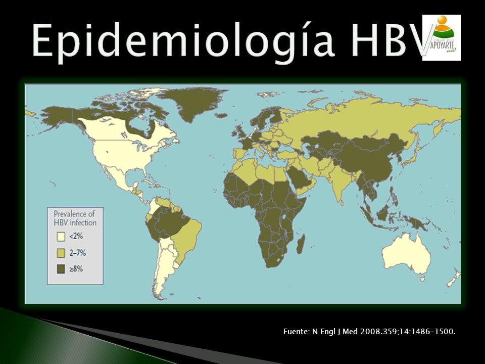 Epidemiología HBV Fuente: N Engl J Med 2008.359;14:1486-1500.