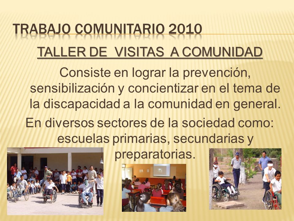 Trabajo comunitario 2010