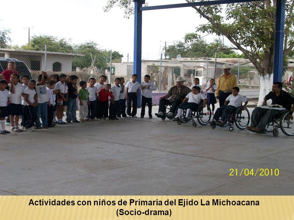Actividades con niños de Primaria del Ejido La Michoacana
