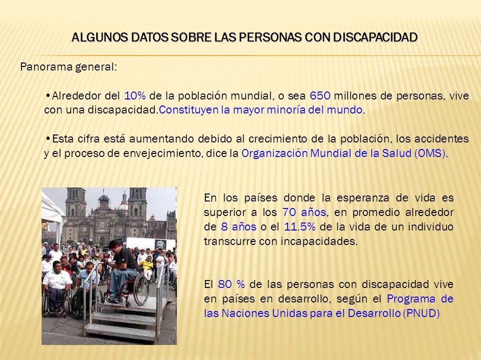 ALGUNOS DATOS SOBRE LAS PERSONAS CON DISCAPACIDAD