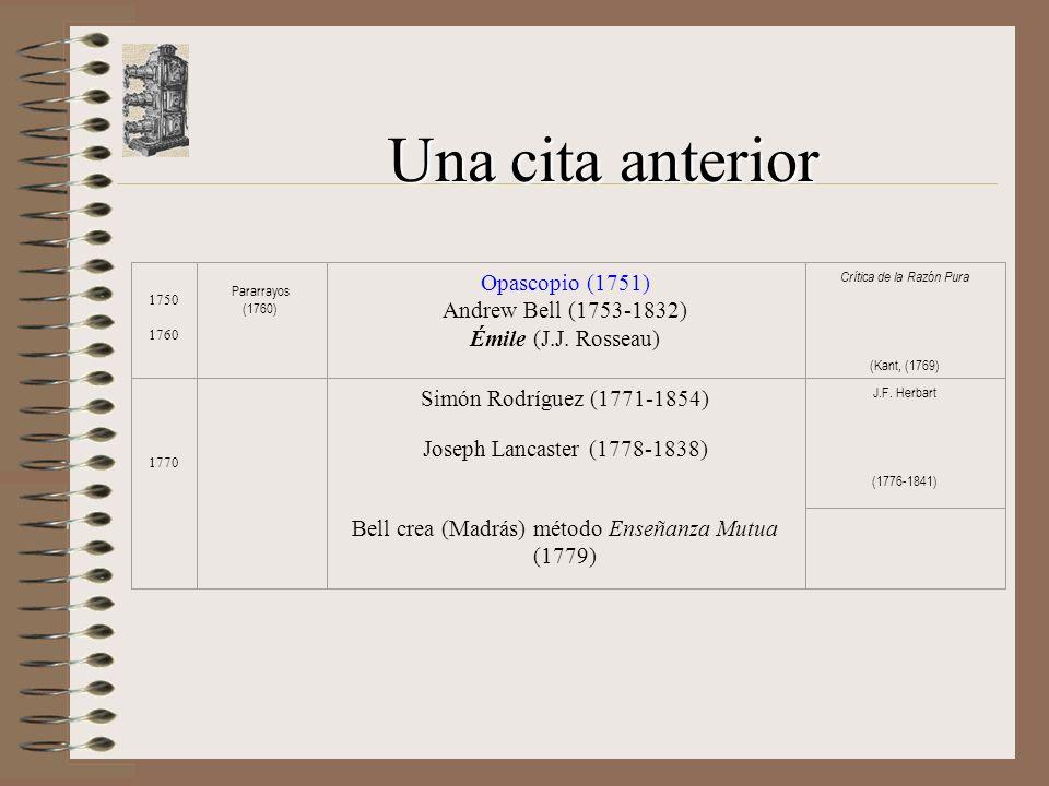 Una cita anterior Opascopio (1751) Andrew Bell (1753-1832)