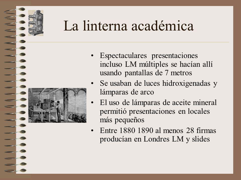 La linterna académica Espectaculares presentaciones incluso LM múltiples se hacían allí usando pantallas de 7 metros.