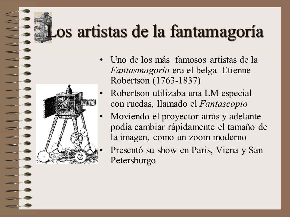 Los artistas de la fantamagoría
